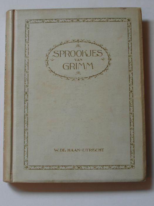 Gebroeders Grimm - Sprookjes van Grimm, bewerkt door Onno Vere en Christine Doorman met illustraties van Rie Cramer - Utrecht, W. de Haan,- eerste druk, ca. 1917