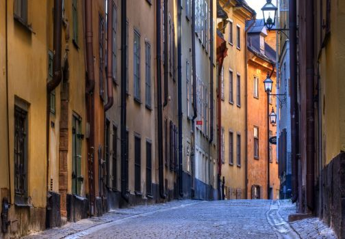 Alley in Stockholm (117 pieces)