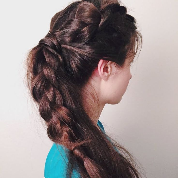 @AshleyWilliamz's BBTransform-ed her DutchBraid into a messy #ponytail with @Bumble gifts!