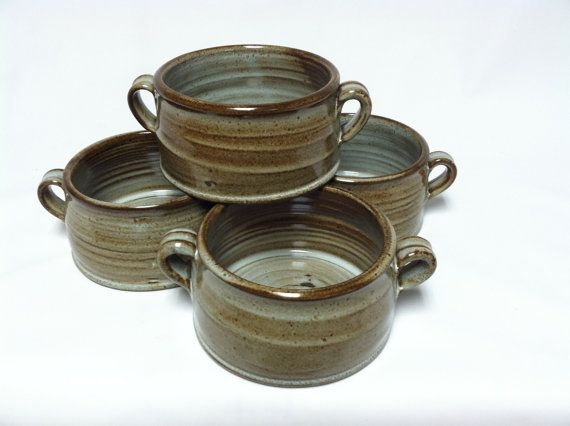 handmade bowls soup bowls stoneware bowls rustic by altheaspottery, $32.00