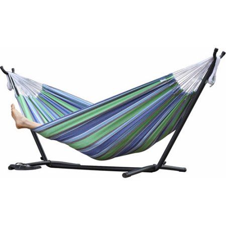 Vivere Double Hammock with Stand Combo, Oasis