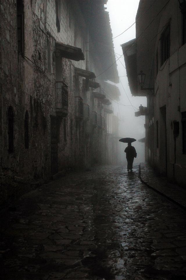 Cuetzalan, Puebla. In the rain . . .
