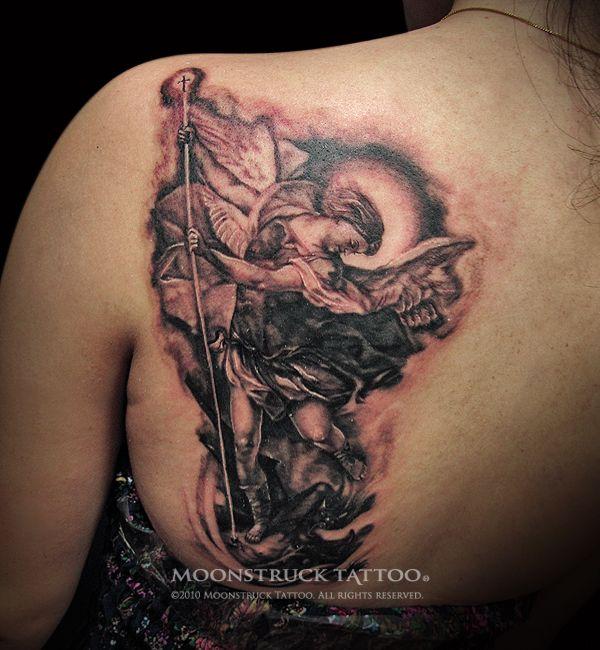 best 25 saint michael tattoo ideas on pinterest saint michael st michael and archangel. Black Bedroom Furniture Sets. Home Design Ideas