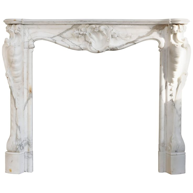 1stdibs Marble Antique Statuario Louis Xv French Fireplace / Mantel