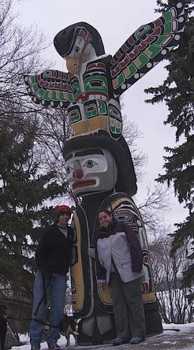 The totem pole in Regina, Saskatchewan