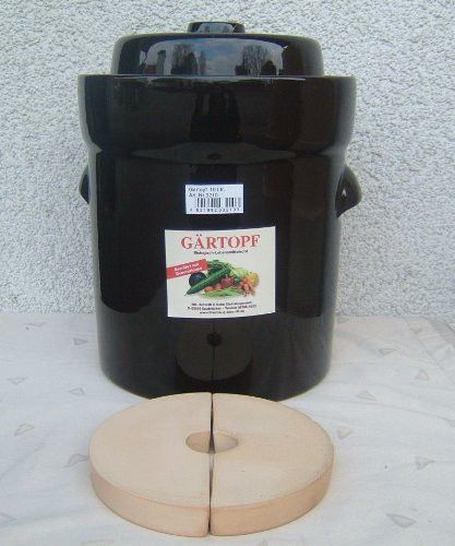 Vegetable Fermentation crock/Sauerkraut pot 10 Lt.