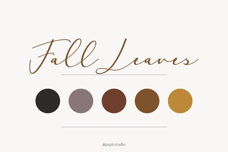Fall leaves color palette  // Yellow, burgundy, moody, green