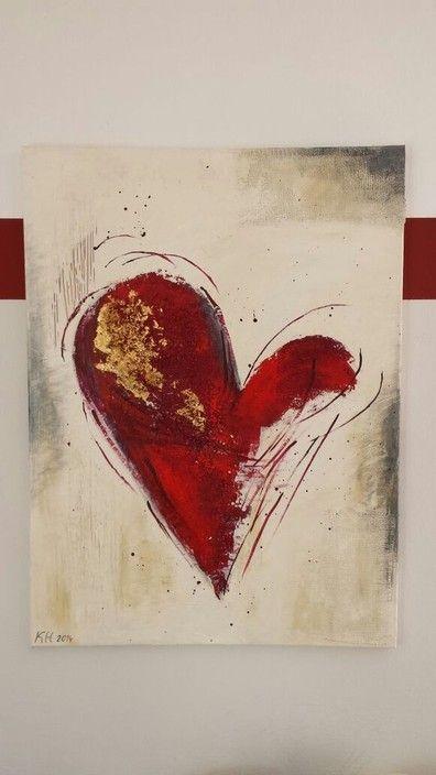 Herz in Acryl