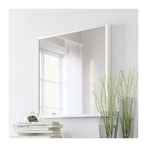 """STAVE Mirror - white - IKEA $30.00 Size 27 1/2"""" x 27 1/2 """" Mirror for above the small white dresser"""