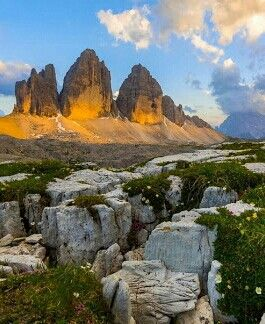 Le Tre Cime di Lavaredo, Dolomiti,
