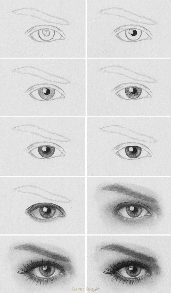 Augen Zeichnen Lernen Bleistift Augen Zeichnen Zeichnungen Und