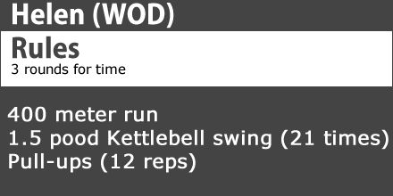 Helen wod Today we check out the Helen #wod  if your new to #crossFi  check out the link below to see a video of how to do this workout. http://www.dsstuff.com/crossfit-workouts-of-the-day/ #fitness