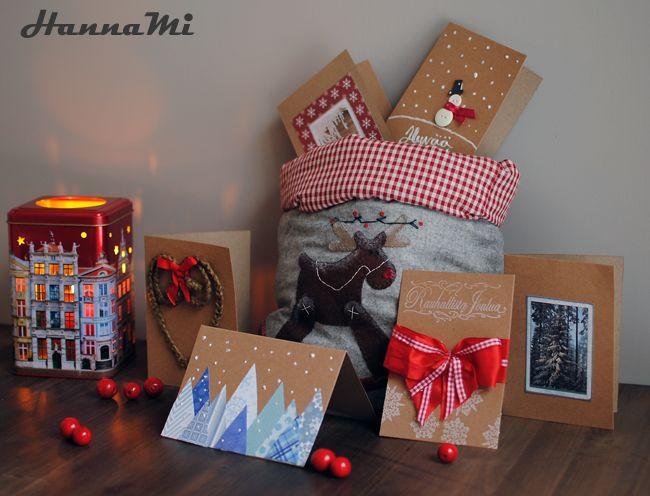 Onni-blogien joulukalenteri luukku 3: Joulukortit (DIY christmas cards)