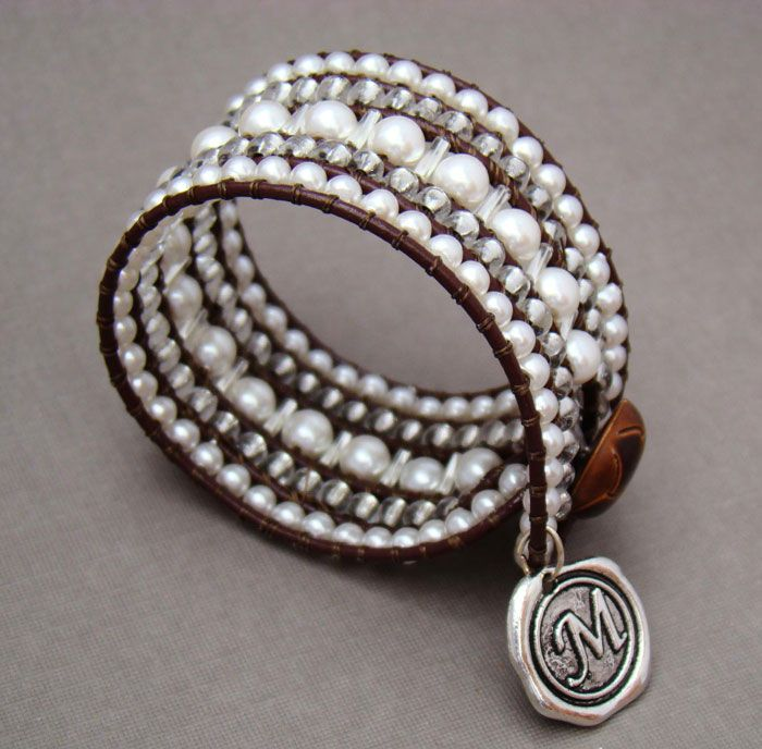 best 25 leather pearl bracelet ideas on pinterest