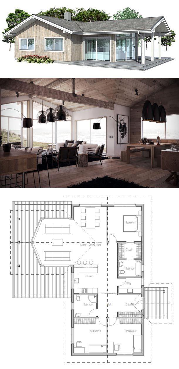 Oltre 25 fantastiche idee su pianta di casa bungalow su for Moderni progetti di bungalow e planimetrie