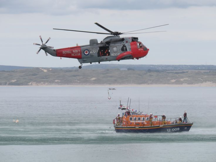 RNLI Air sea rescue exercise in St Ives Bay, Cornwall by Michelle Boyt
