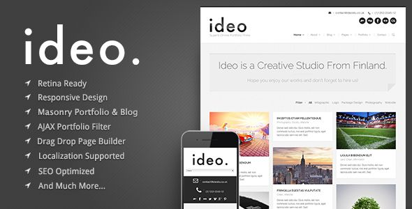 ideo - Minimalistic WordPress Portfolio Theme - Portfolio Creative