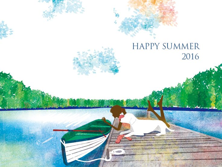 "Check out this @Behance project: ""Happy Summer_greeting card""…"