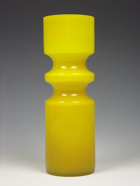 Alsterfors glass vase. Designed by Per-Olof Ström