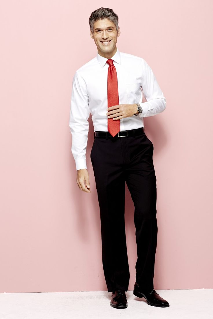 Guys: get dressed up for Valentine's Day with a pop of red in your tie
