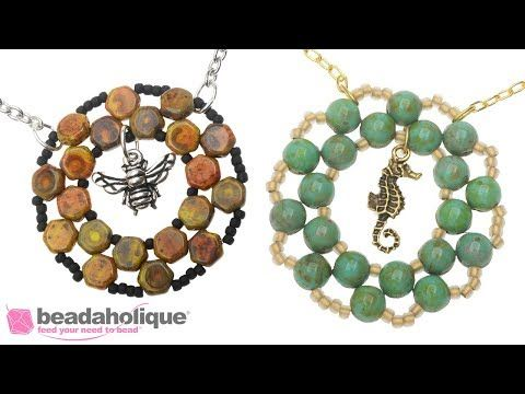 How to Bead Weave a Circular Frame Using Two Hole Beads - YouTube