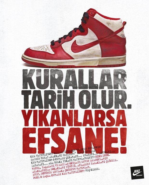 Grey İstanbul'dan kırmızılı Nike ilanı