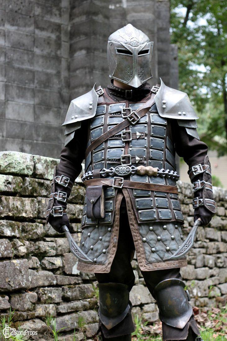 Lego fantasy era crown knight scale mail with crown breastplate - Skyrim Dawnguard Heavy Armor By Torsoboyprops