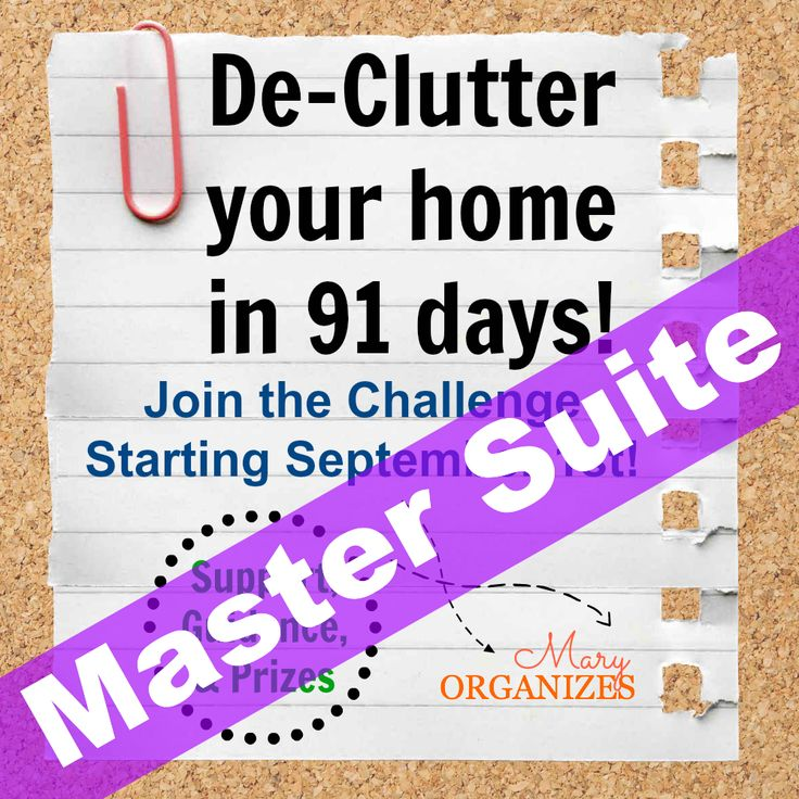 Week #6: Master Bedroom Suite (91 Day Declutter Challenge!)-I'm obsessed with her blog!!