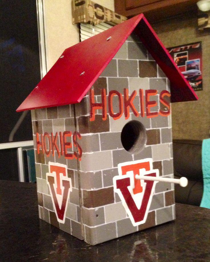 hokie stone birdhouse.