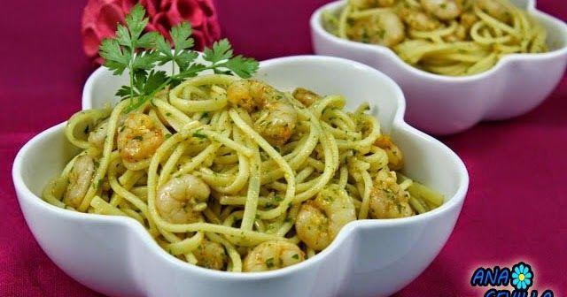Deliciosa manera de tomar pasta, Tallarines o espaguetis con gambas al ajillo!!. Os chuparéis los deditos!! Con Thermomix .