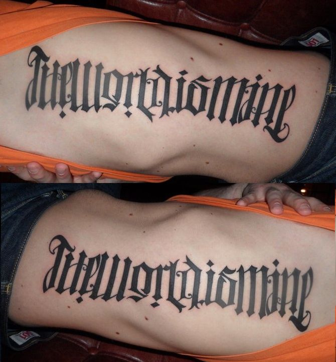 17 Best Ideas About Ambigram Tattoo On Pinterest