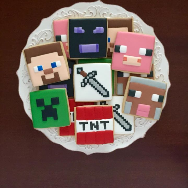 Minecraft cookies https://cookiecutter.com/square-cookie-cutters.htm