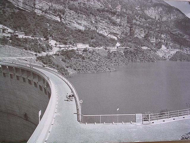 Vajont Dam before the disaster