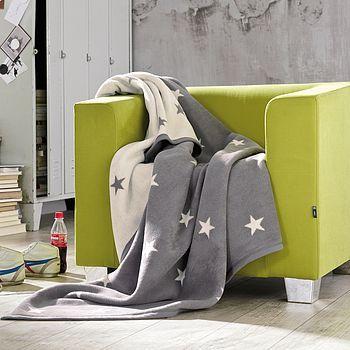 Grey Stars Blanket