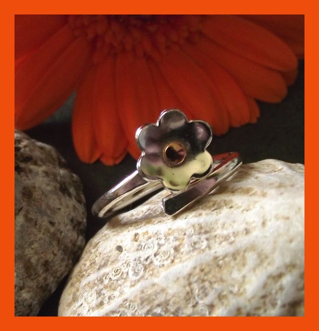 Little Flower - sterling silver adjustable ring £22.00
