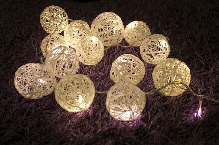 Yarn LED lightballs