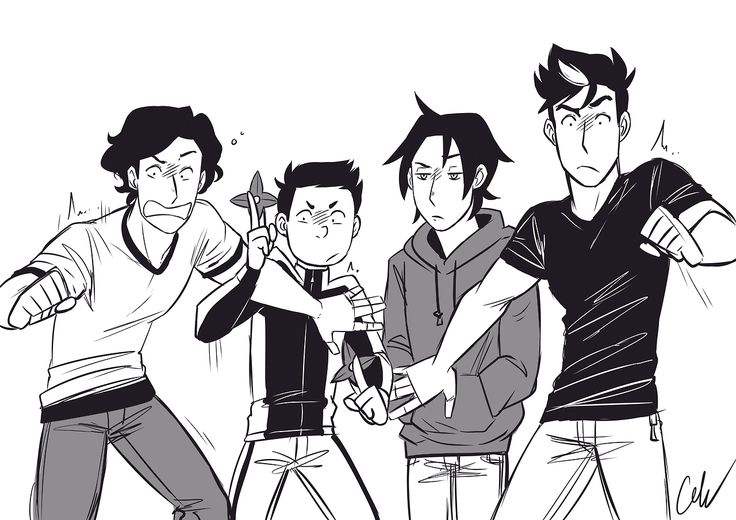 Batboys & haunted house reactions. Dick Grayson, Damian Wayne, Tim Drake, & Jason Todd.