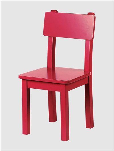 Cadeira de cor, para quarto de criança BRANCO CLARO LISO+CINZENTO MEDIO LISO+ROSA CLARO LISO+VERMELHO CLARO LISO