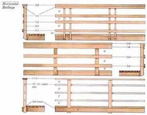 how to build a horizontal deck railing