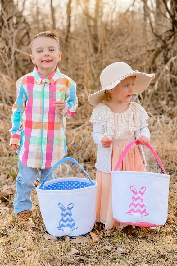 """【Great Easter gift for kids】:This lovely Easter bunny basket can be used as gift basket to kids, or let them fill with eggs on their exciting Easter egg hunt! They will definitely love this super cute bunny Easter basket.【Lightweight and durable Easter basket】:This Easter bunny basket is made of premium quality cotton canvas, which makes it lightweight and durable for kids.【Perfect size】:The dimension of this lovely Easter basket is 9.8""""(Top Width) x 9.5""""(Bottom Width) x 10.2""""(Height),perfect fo"""