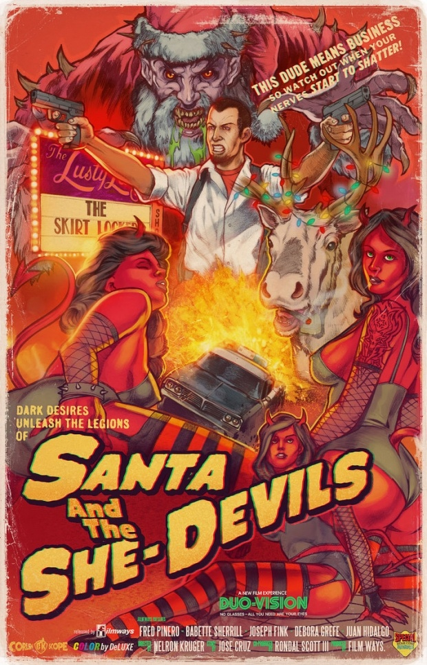The *other* Santa. Oh.: Unwritten Posters, Pulp Posters, Picture-Black Posters, Posters De, Bmovi Posters, Movie Stuff, B Movie Posters, Eve Art, Horror Sci Fi B Movie
