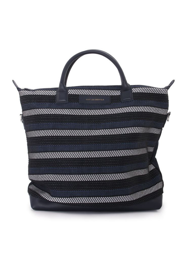 Want Les Essentiels - SS17 - Menswear // Navy Ohare shopper tote bag