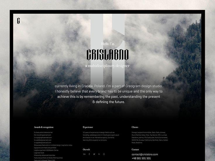 Personal micro-website by Cris Labno