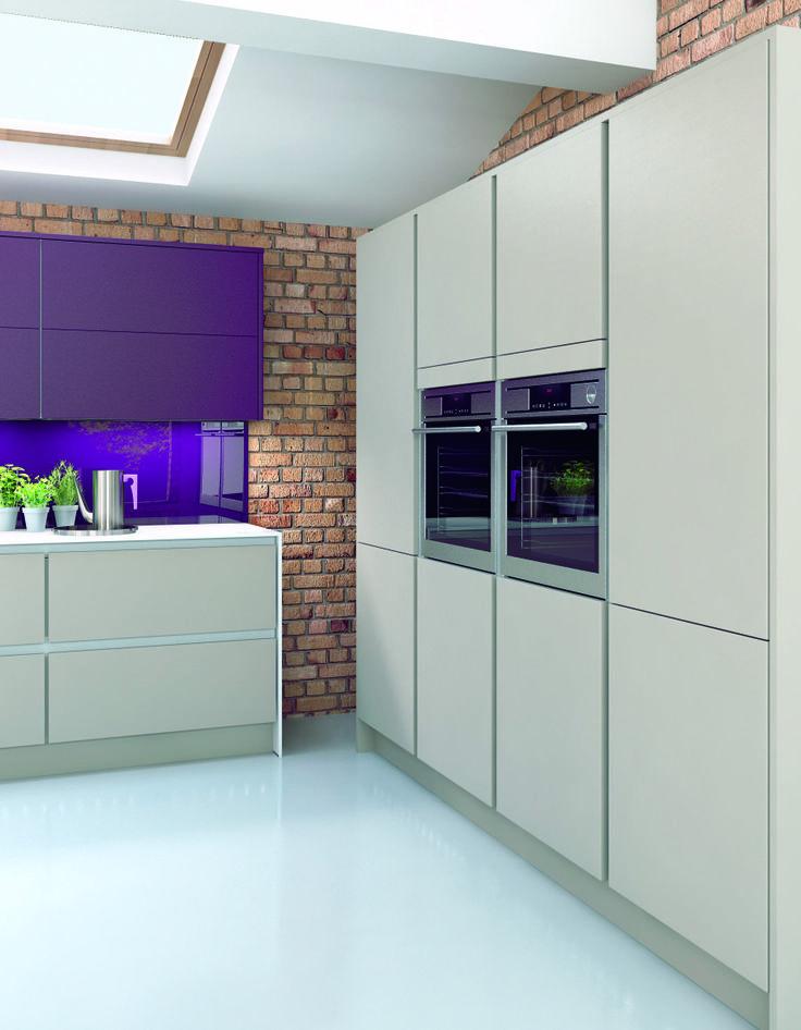 purple kitchen cabinet doors