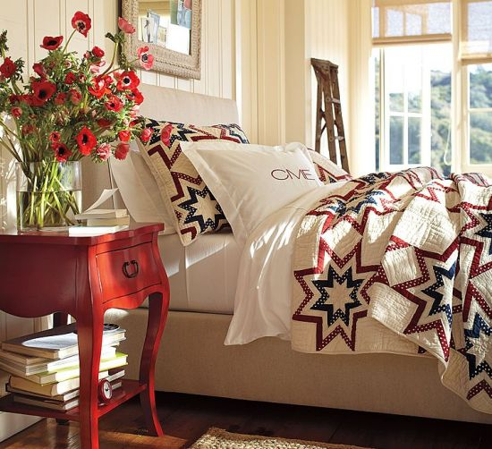 Red White And Blue Decor Patchwork Quilts 2011 Posted