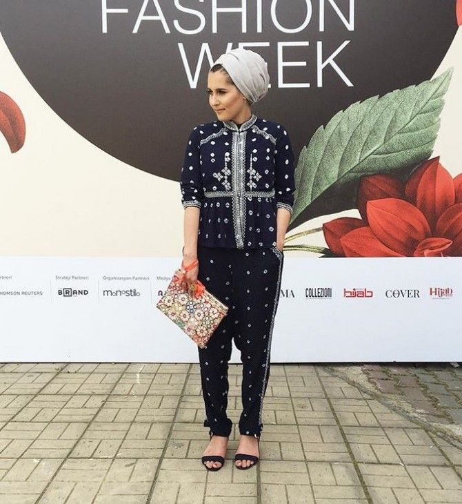 Hijab + Coordinating Set + Istanbul Modest Fashion Week (dinatokio)