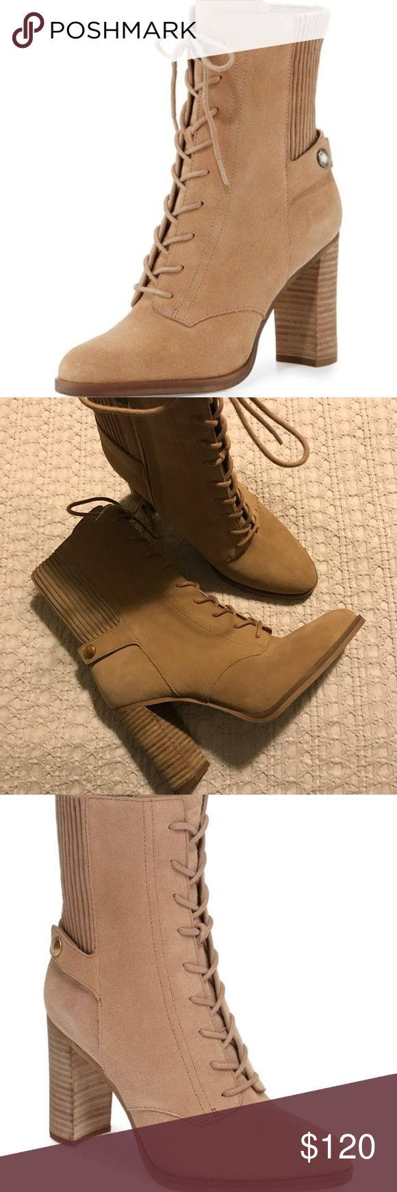 Michael Kors Suede Lace Up Bootie 7 Brand new, beautiful Genuine Suede heeled lace up booties. Size 7 but I wear a 7.5 and they also fit. I fell in love with these but just have so too many boots. Never got the chance to wear them. Open to offers MICHAEL Michael Kors Shoes Heeled Boots