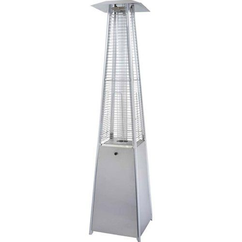 Stainless Steel Quartz Glass Tube Propane Patio Heater . $285.45. Flame goes up through 4 in. quartz glass tube. Stainless Steel construction - Push button ignition. 40,000 BTUs. Quartz Glass Tube - Major upgrade over standard glass tube with regards to heat and durability. Some assembly required. The Quartz glass tube radiant heater presents an upscale design and look when it comes to entertaining outdoors at night.  The quartz glass is a major upgrade over the stand...