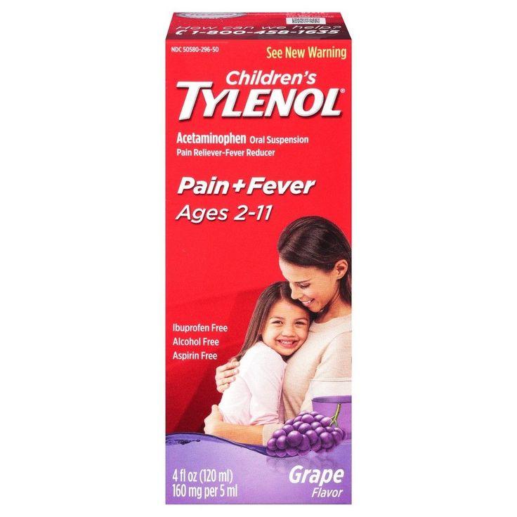 Children's Tylenol Pain and Fever Liquid Grape - 4.0 fl oz