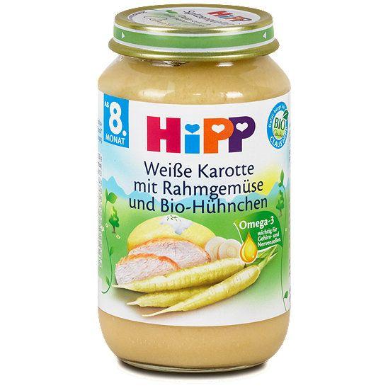 Hipp Menü weiße Karotte mit Rahmgemüse und Bio-Hühnchen, Menü im dm Online Shop kaufen.